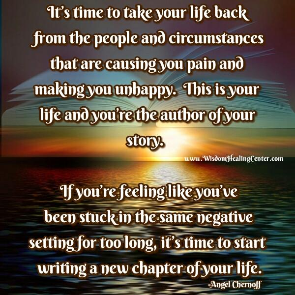 You are the author of your story