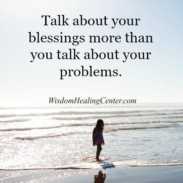 Talk less about your problems with people