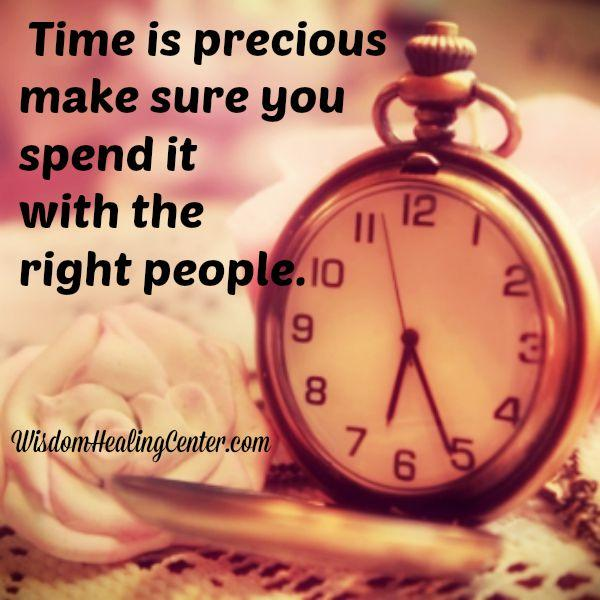 Spend time with the right people