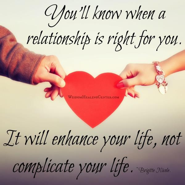 When a relationship is right for you?