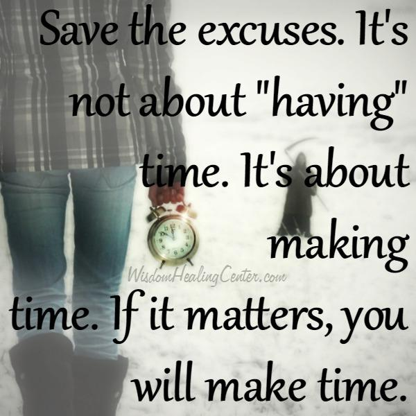 It's not about having time for others