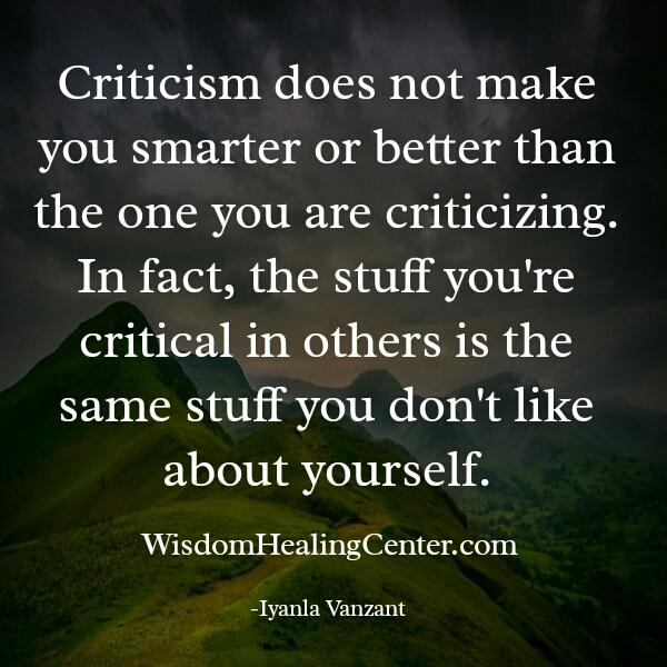 Criticism doesn't make you smarter