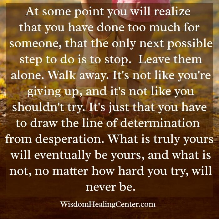 What is truly yours will eventually be yours