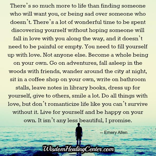 Finding someone who will want you