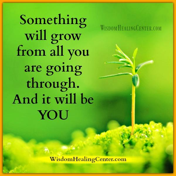 Something will grow from all you are going through